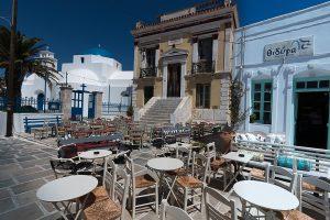 île de Serios, cyclades, placette de Chora