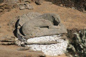 kea, île des cyclades, lion souriant