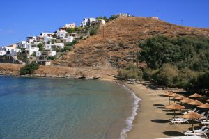 kea; île des cyclades, plage de yaliskari