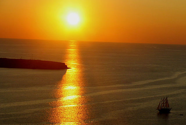 Coucher de soleil depuis Oia par Karol M.