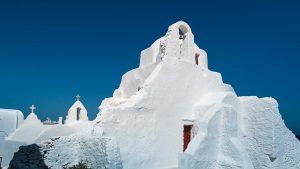 Mykonos, île des Cyclades, église panagia paraportiani