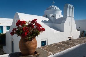île de Sifnos, Cyclades, monastère de Vrissi