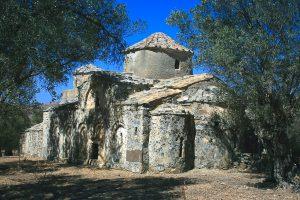 Naxos, Cyclades, eglise byzantine de Filoti