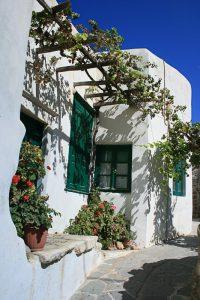 île de naxos, cyclades,ruelle de la ville haute de Chora