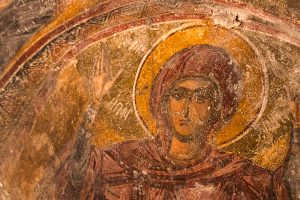 Sérifos, île des Cyclades, fresque panagia